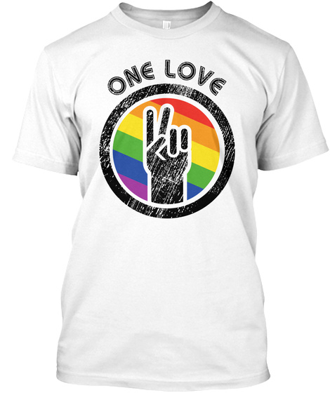 One Love White T-Shirt Front
