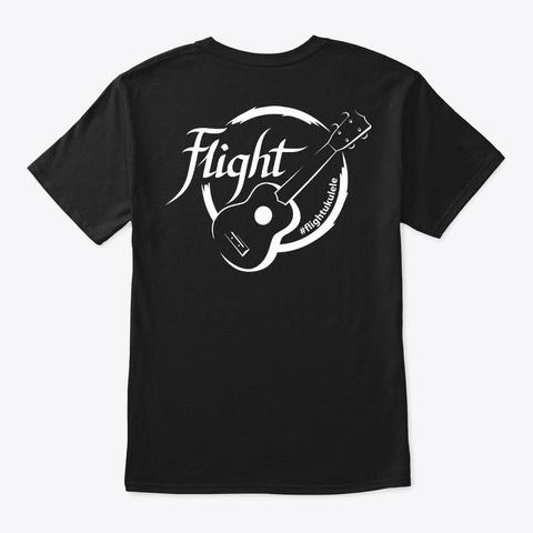 Flight Ukulele T Shirt Black T-Shirt Back