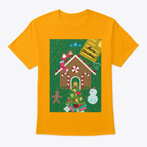 Merry Christmas! Gold T-Shirt Front