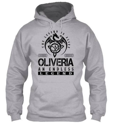 Oliveria   Legends Alive Sport Grey T-Shirt Front