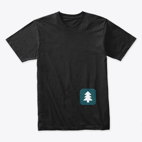 Awkward Glade Tops Black T-Shirt Front