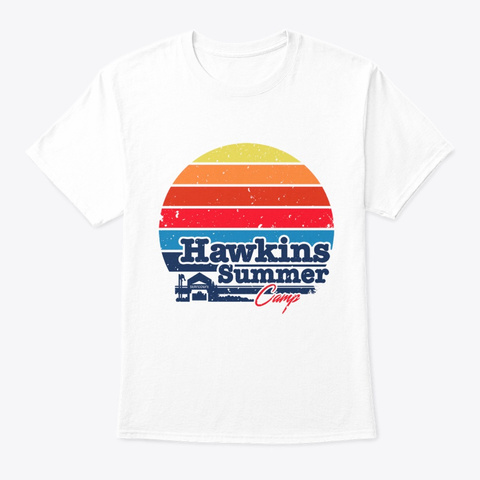 Hawkings Summer Camp White T-Shirt Front