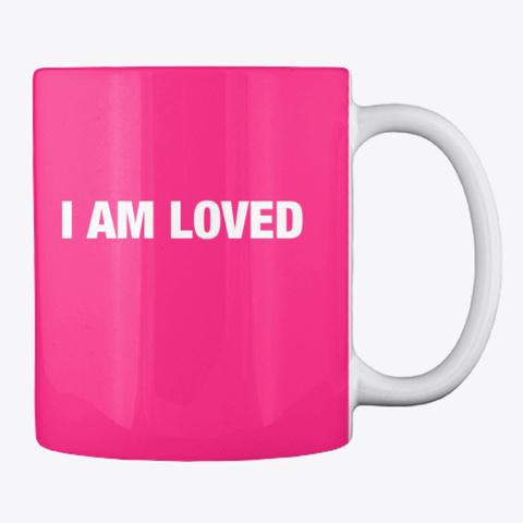 #52 Devotionals I'm Loved By God Hot Pink T-Shirt Back