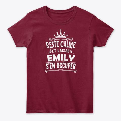 Reste Calme Emily S'en Occuper Cardinal Red T-Shirt Front