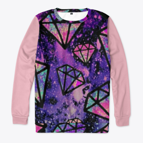 Sweatshirt   6, Space Collection Pink T-Shirt Front