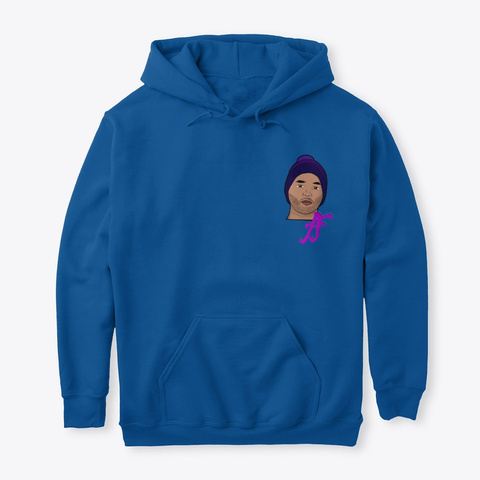 Hoodie Royal T-Shirt Front
