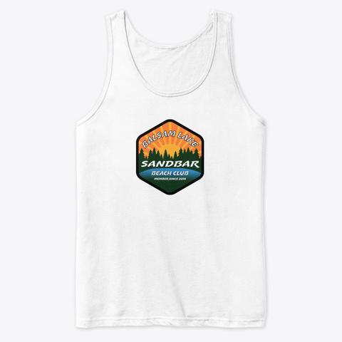 Balsam Lake Sandbar Beach Club White T-Shirt Front