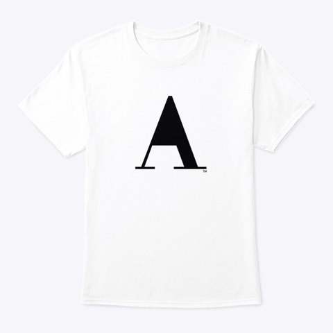 No A Holes™ Icon On Light Merch White T-Shirt Front