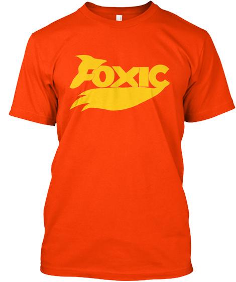 Foxic Orange T-Shirt Front