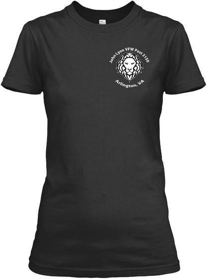 John Lyon Vfw Post 3150 Arlington Va Black Women's T-Shirt Front