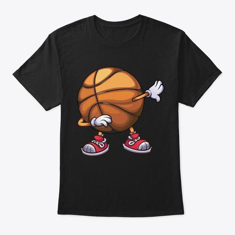 Dabbing Basketball Shirt Funny Ball Dab  Black T-Shirt Front