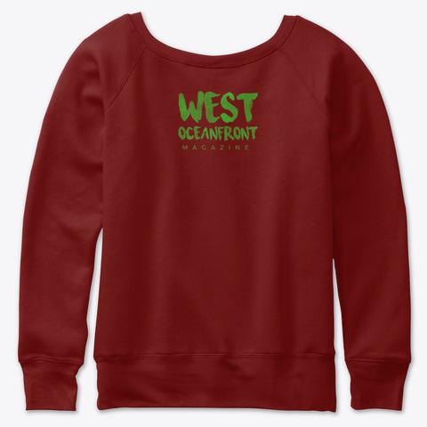 Holiday At The Beach Dark Red Triblend Sweatshirt Back