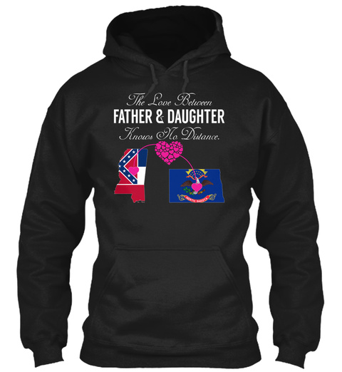 Father Daughter Black T-Shirt Front