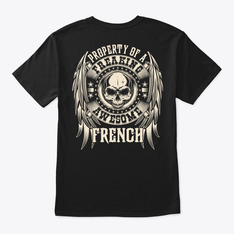 Awesome French Shirt Black T-Shirt Back