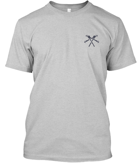 Retired Lineman Shirt Light Steel T-Shirt Front