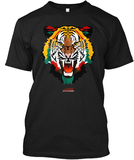 Tiger T Shirt Fashion Graphic Tee Shirt  Black T-Shirt Front