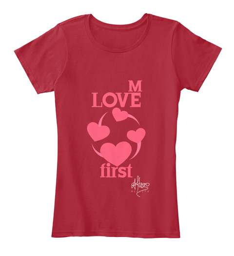 M Love First Red T-Shirt Front