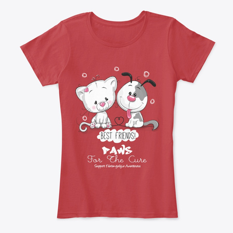 Paws For The Cure Classic Red T-Shirt Front