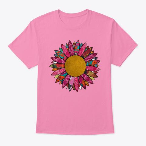 Pink Vintage Flower Pink T-Shirt Front