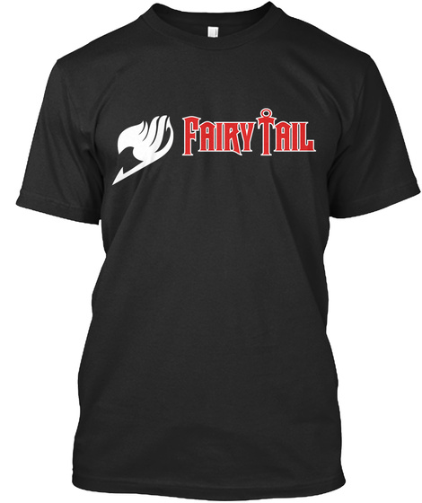 Fairy Tail Black T-Shirt Front