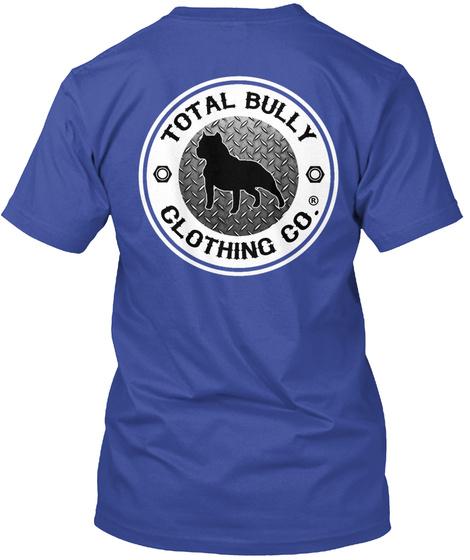 Total Bully  Bully Beast Graphic Tshirt Deep Royal T-Shirt Back