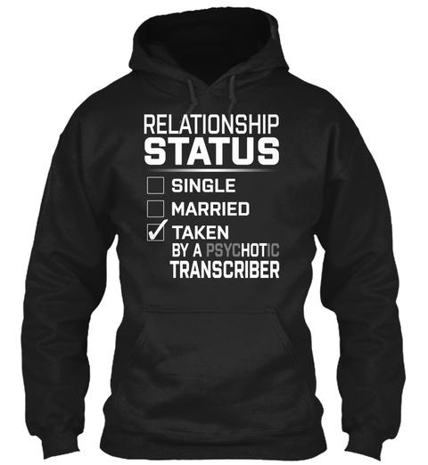 Transcriber   Psyc Ho Tic Black T-Shirt Front