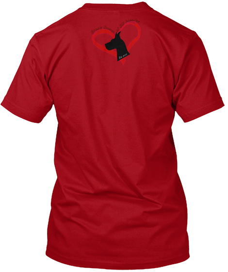 Hairy Pawter, Dane Style Deep Red T-Shirt Back