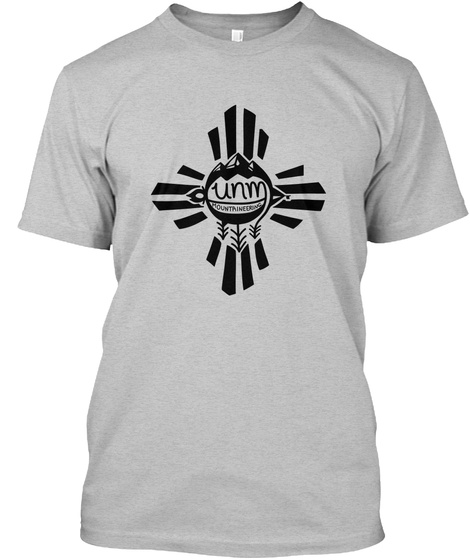 Unm Mountaineering Light Heather Grey  T-Shirt Front