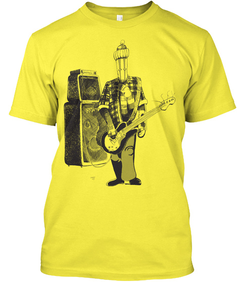 Straw Man Jam Yellow T-Shirt Front