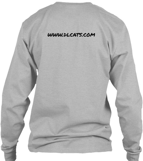 Www.Dlcats.Com Sport Grey Long Sleeve T-Shirt Back
