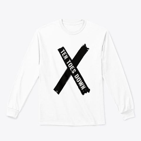 Deestroying Ten Toes Down Ttd Shirt White T-Shirt Front