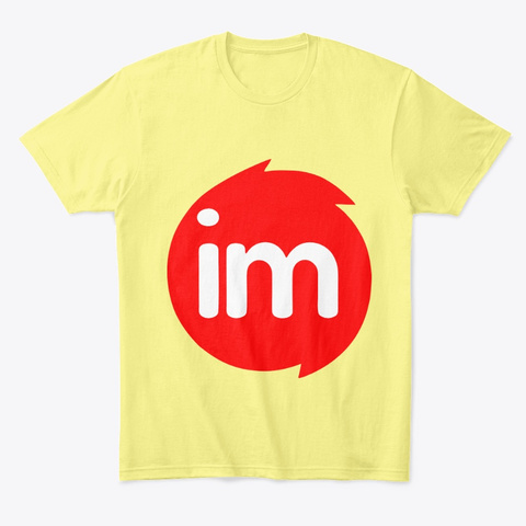 Monitor Red Logo Products Lemon Yellow  T-Shirt Front
