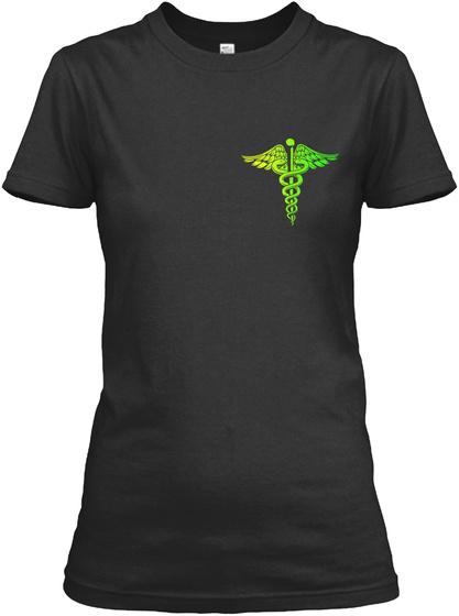 Proud Cna Black T-Shirt Front
