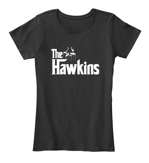 Hawkins The Family Tee Black T-Shirt Front