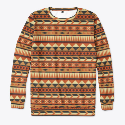 Aztec Pattern In Orange Red Brown Yellow Standard T-Shirt Front