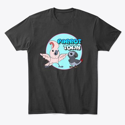 Parrot Town Logo Gear Black T-Shirt Front