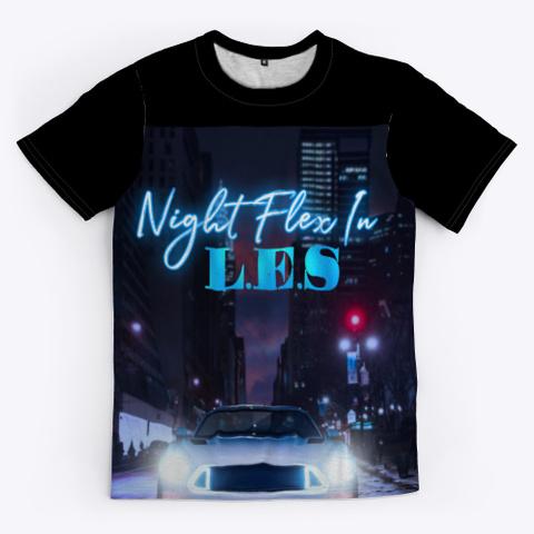 Night Flex In L.E.S Black T-Shirt Front
