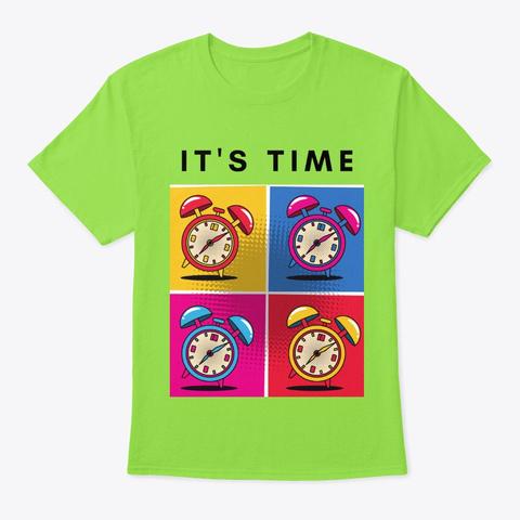 Pop Art  It's Time Lime T-Shirt Front