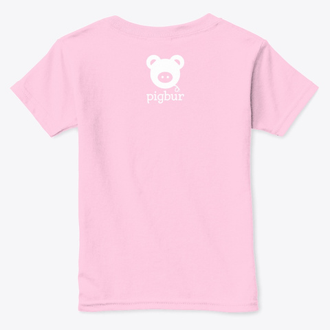 Pigbur Short Sleeve Tee W/White Light Pink  T-Shirt Back