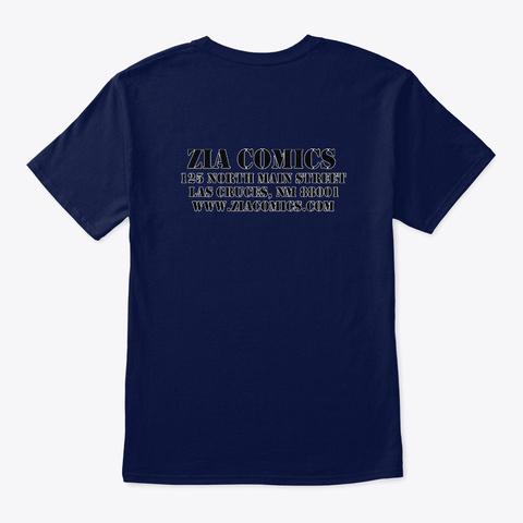 Zia Comics Skull And Crossbones Navy T-Shirt Back