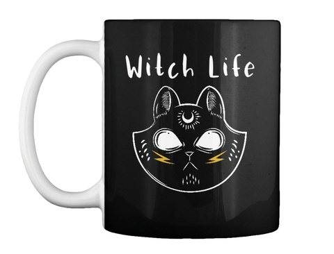 Witch Life Black T-Shirt Front