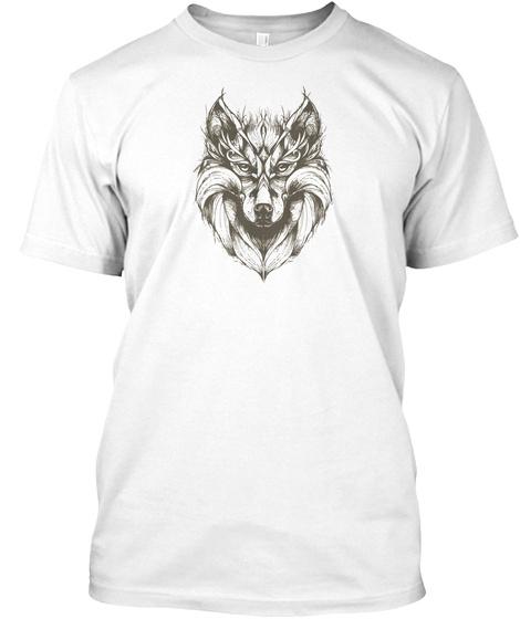 Best Wolf Draw Design White T-Shirt Front