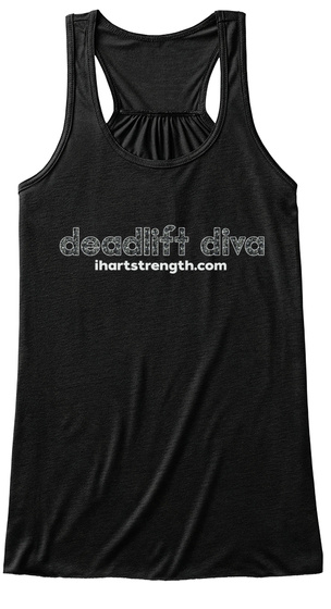 Deadlift Diva   Splatter Black Women's Tank Top Front