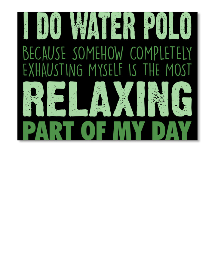 Water Polo For Relaxing Sticker Landscape