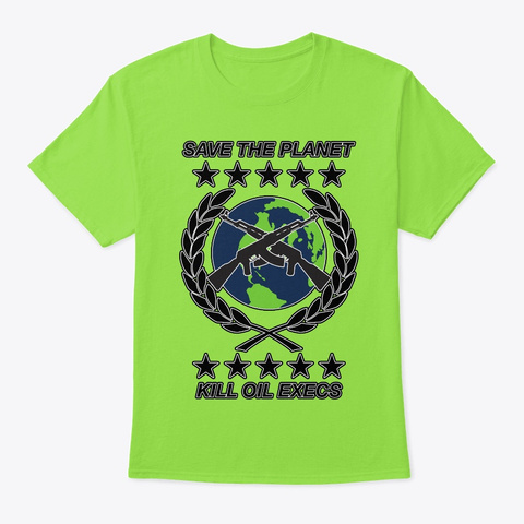 Save The Planet Lime T-Shirt Front