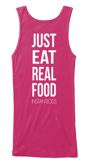 Just Eat Real Food Instantloss Berry Women's Tank Top Back
