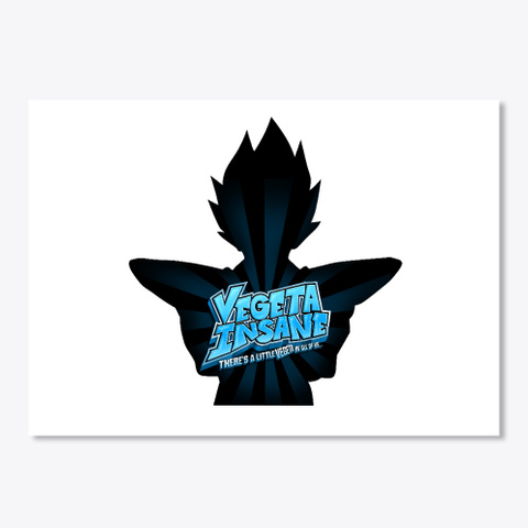 Vegeta Insane Sticker White T-Shirt Front