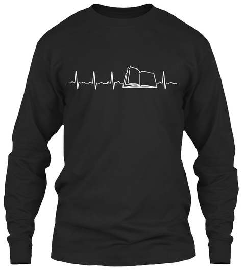 Book Heartbeat   Limited Edition Black T-Shirt Front