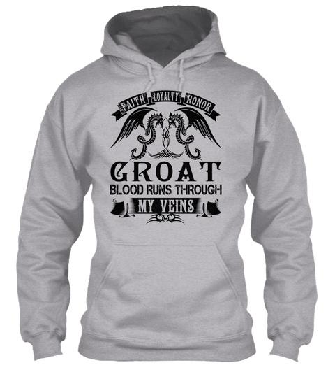 Groat   My Veins Name Shirts Sport Grey T-Shirt Front