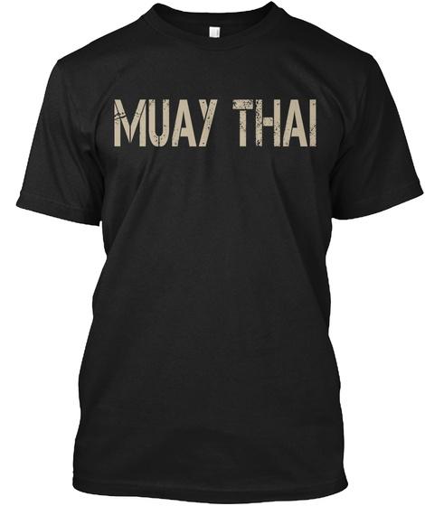 Muay Thai Black T-Shirt Front